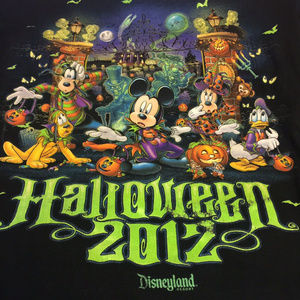 Disneyland 2012 Halloween T-Shirt Disney Parks